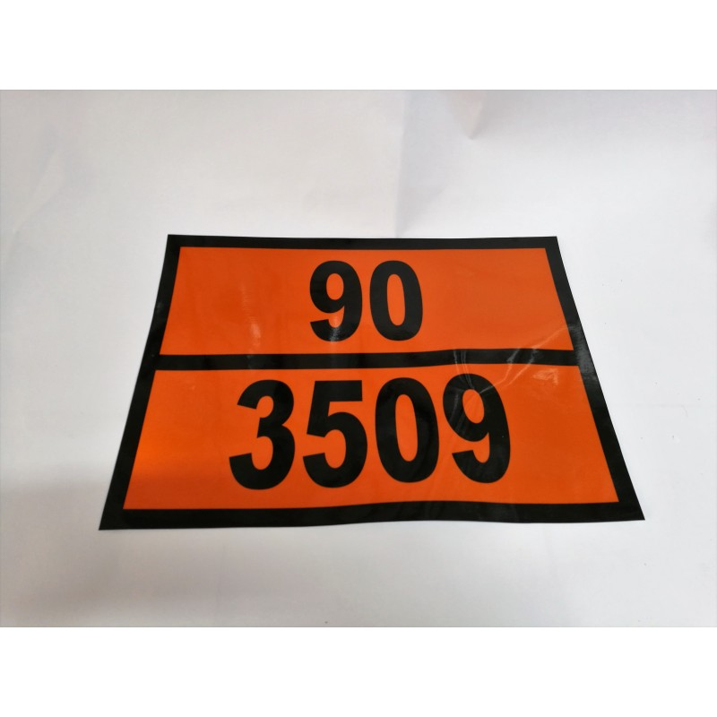 2. PANEL NARANJA CON TEXTO 300X400 MM